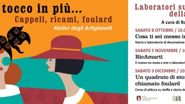 Creare cappelli, ricami e foulard con un corso a Firenze